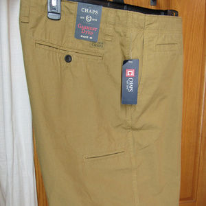 NWT CHAPS Flat-front Cargo Short SZ 40